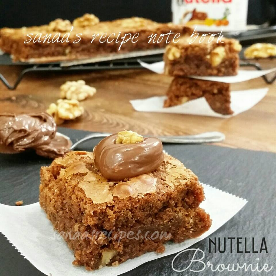 Nutella Brownie - sanaa's recipe
