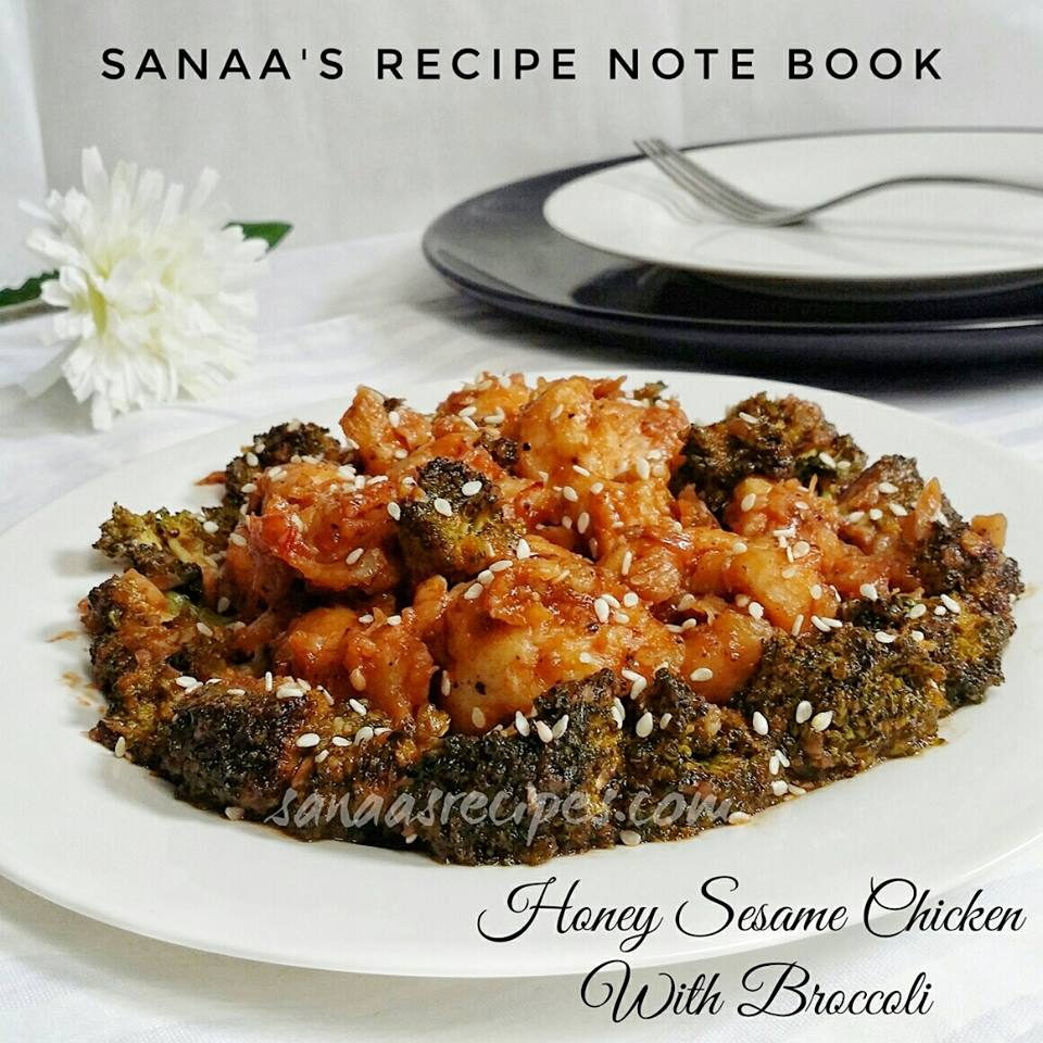 Honey Sesame Chicken With Broccoli - sanaa's recipe