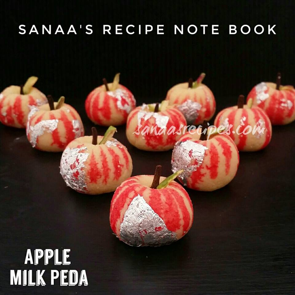Apple Milk Peda/ Indian Apple Milk Fudge - sanaa's recipe