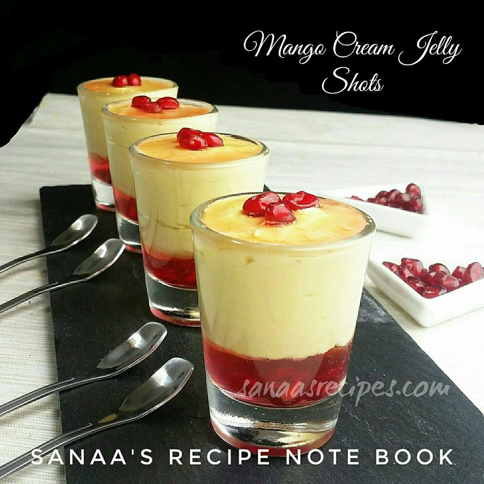 Mango Cream Jelly Shots - sanaa's recipe
