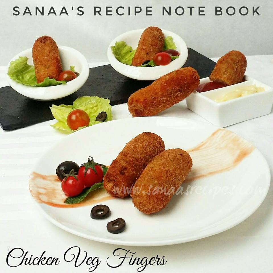 Chicken Veg Fingers - sanaa's recipe