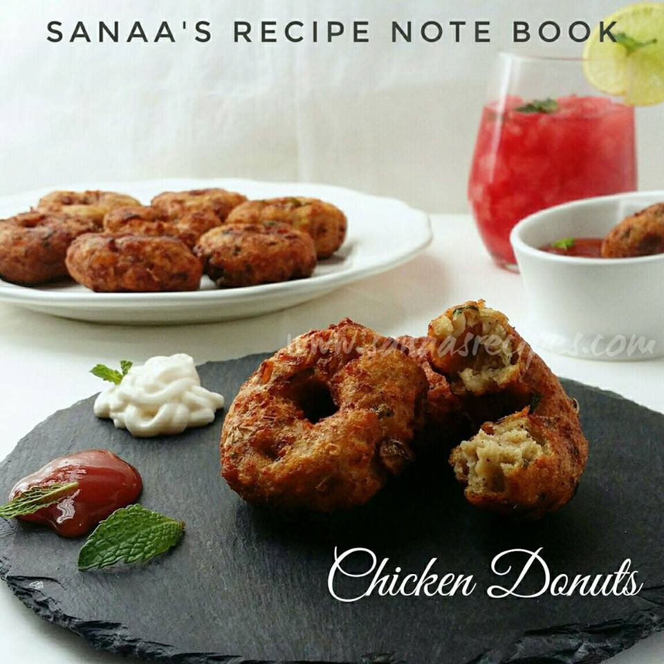Chicken Donuts - sanaa's recipe