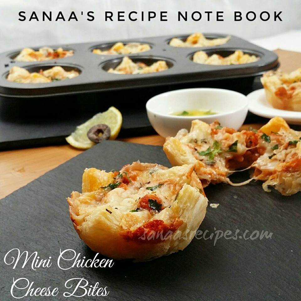 Mini Chicken Cheese Bites - sanaa's recipe