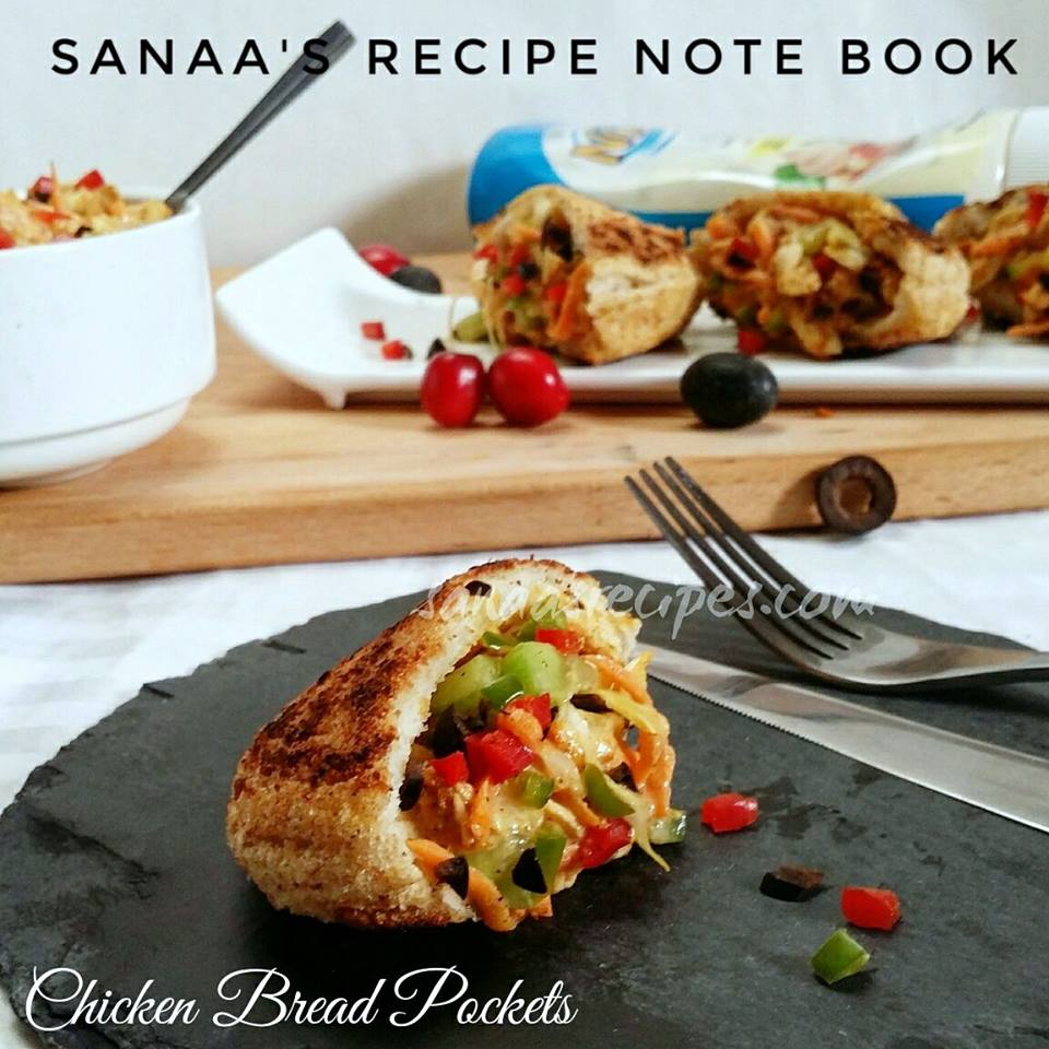Chicken Bread Pockets - sanaa's recipe