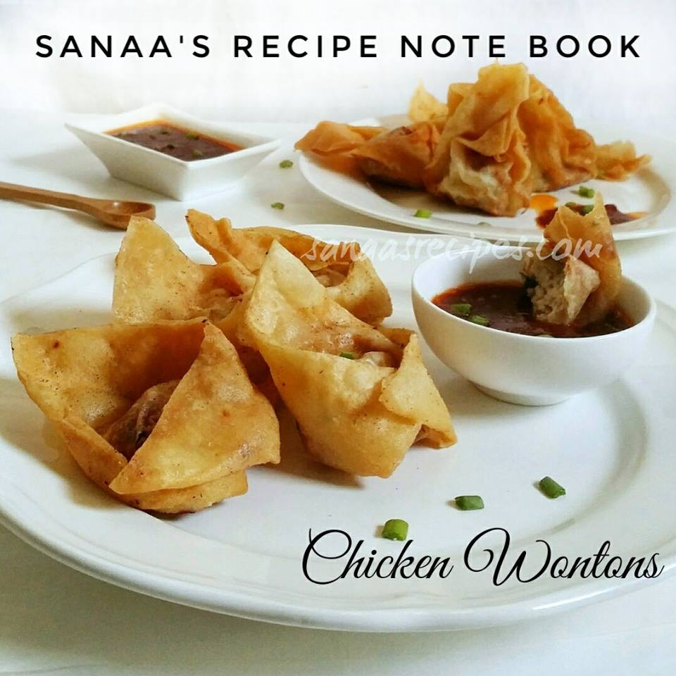 Chicken Wontons - sanaa's recipe