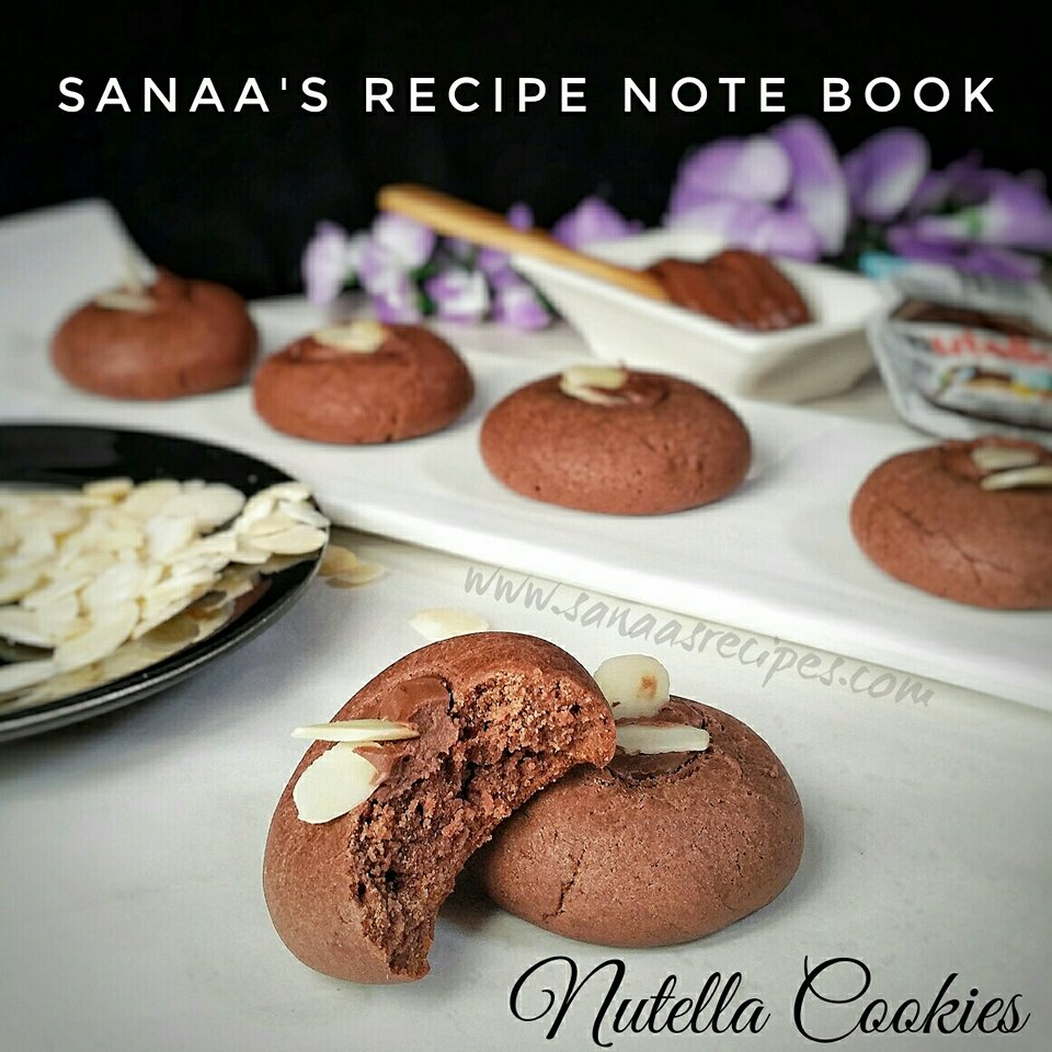Nutella Cookies - sanaa's recipe