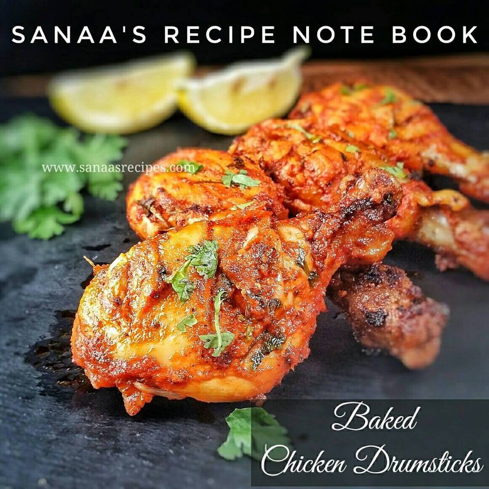 Baked Chicken Drumsticks - sanaa's recipe