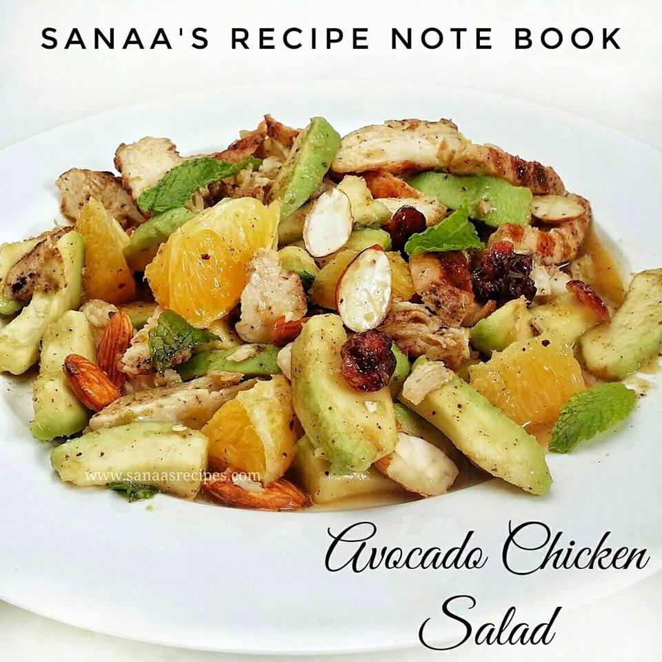 Avocado Chicken Salad - sanaa's recipe