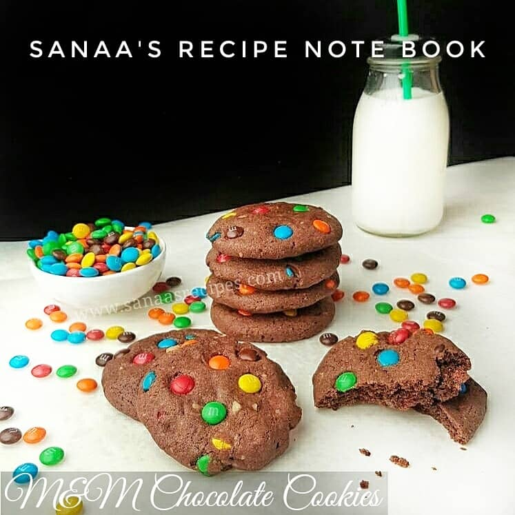 M&M Chocolate Cookies - sanaa's recipe