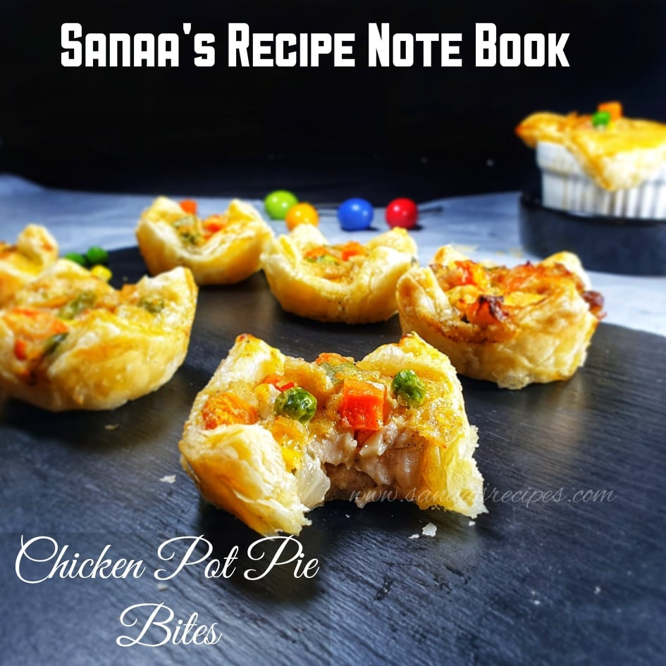 Chicken Pot Pie Bites - sanaa's recipe