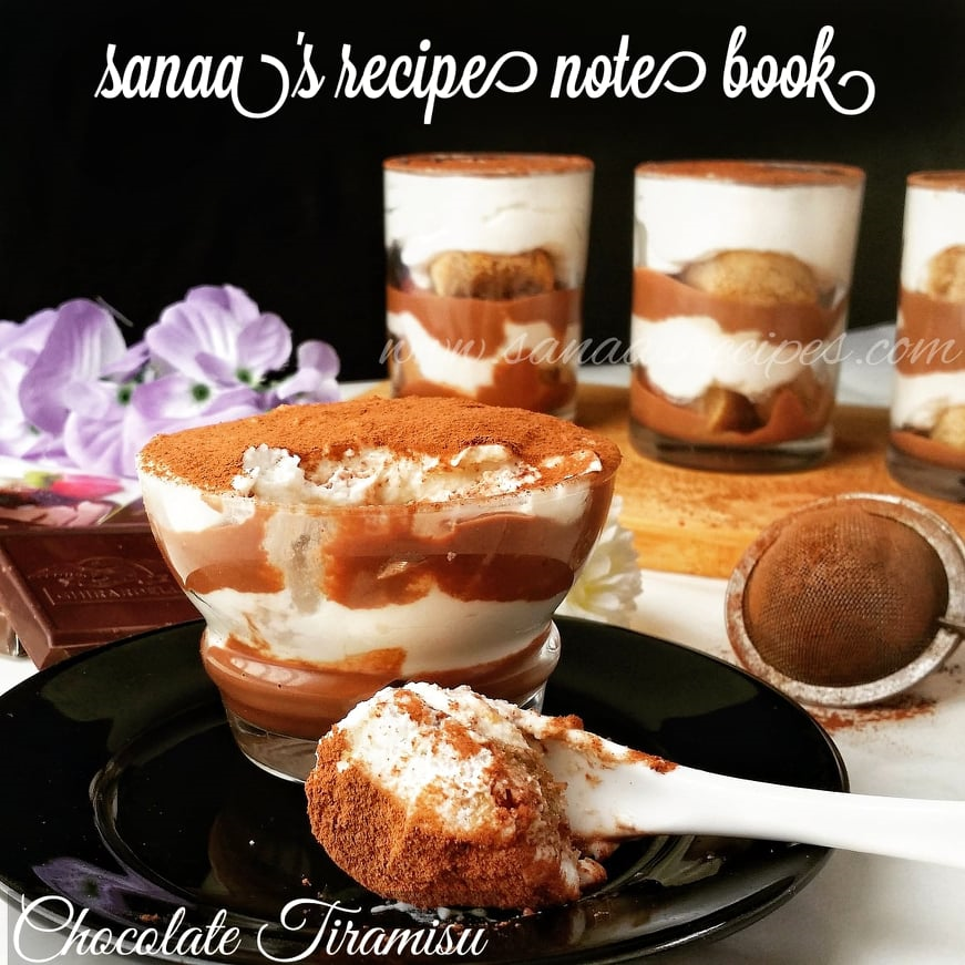 Chocolate Tiramisu (Eggless) - sanaa's recipe