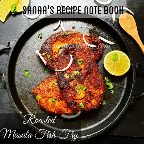 Roasted Masala Fish Fry - sanaa's recipe
