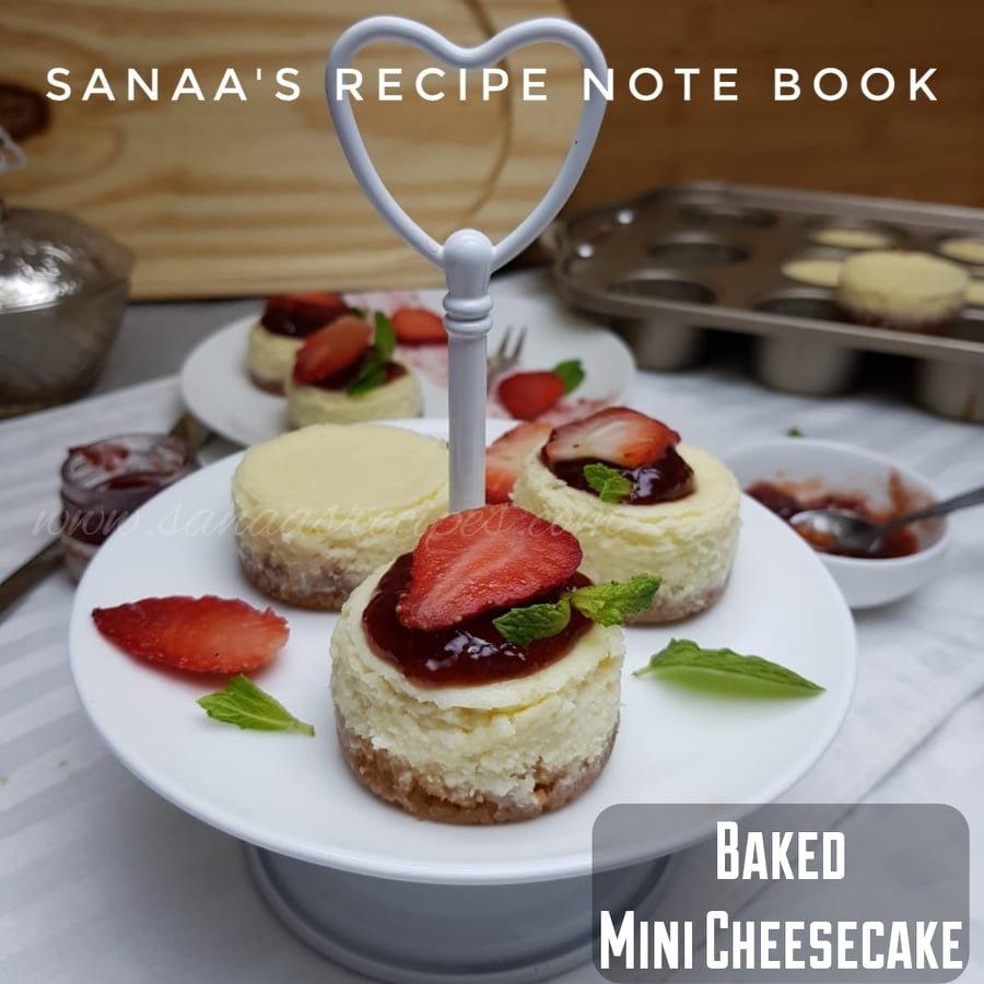 Baked Mini Cheesecake - sanaa's recipe